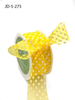 1.5 Inch Sheer Dots Ribbon - JD-5-27S Yellow