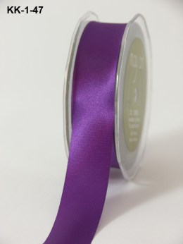 1 Inch Single Faced Satin Cut on the Bias Ribbon with Cut Edge - KK47 - VIOLET