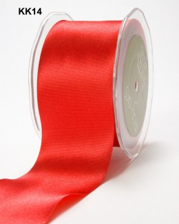 3 Inch Single Faced Satin Cut on the Bias Ribbon with Cut Edge - KK14 - RED