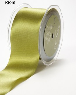 2 Inch Single Faced Satin Cut on the Bias Ribbon with Cut Edge - KK16 - OLIVE