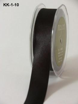 1 Inch Single Faced Satin Cut on the Bias Ribbon with Cut Edge - KK10 - BLACK