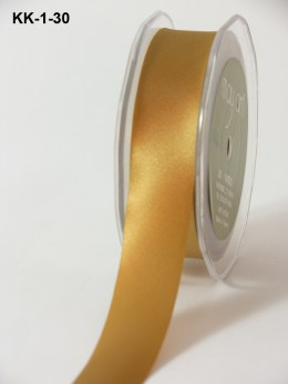 1 Inch Single Faced Satin Cut on the Bias Ribbon with Cut Edge - KK30 - GOLD
