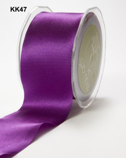 3 Inch Single Faced Satin Cut on the Bias Ribbon with Cut Edge - KK47 - VIOLET