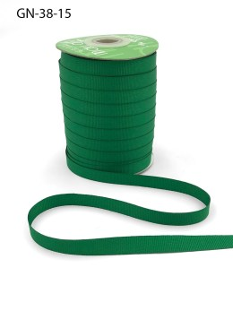 ~3/8 Inch Light-Weight Flat Grosgrain Ribbon with Woven Edge - GN-38-15 Green