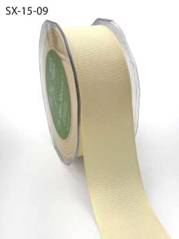 1.5 Inch Heavy-Weight (higher thread count) Classic Grosgrain Ribbon with Woven Edge - SX-15-09 Ivory