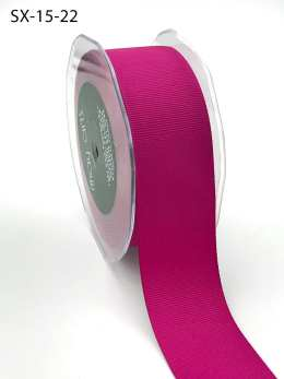 1.5 Inch Heavy-Weight (higher thread count) Classic Grosgrain Ribbon with Woven Edge - SX-15-22 Fuchsia