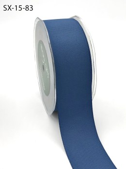 1.5 Inch Heavy-Weight (higher thread count) Classic Grosgrain Ribbon with Woven Edge - SX-15-83 Slate Blue