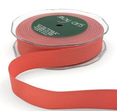 3/4 Inch Heavy-Weight (higher thread count) Classic Grosgrain Ribbon with Woven Edge - SX-34-13 Coral