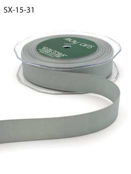3/4 Inch Heavy-Weight (higher thread count) Classic Grosgrain Ribbon with Woven Edge - SX-34-31 Silver