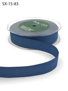 3/4 Inch Heavy-Weight (higher thread count) Classic Grosgrain Ribbon with Woven Edge - SX-34-83 Slate Blue