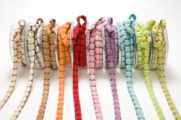 3/8 Inch CHENILLE/CENTER DOT Ribbon