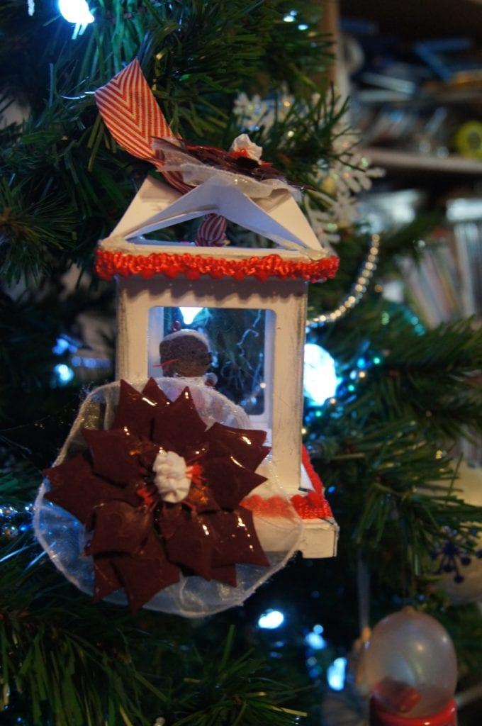Paper Lantern Christmas Ornament