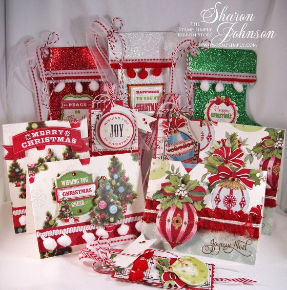 10 Piece Christmas Tag and Card Set