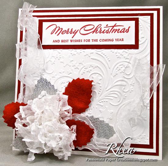 DIY: Heat Setting Ribbon for an Easy Christmas Card