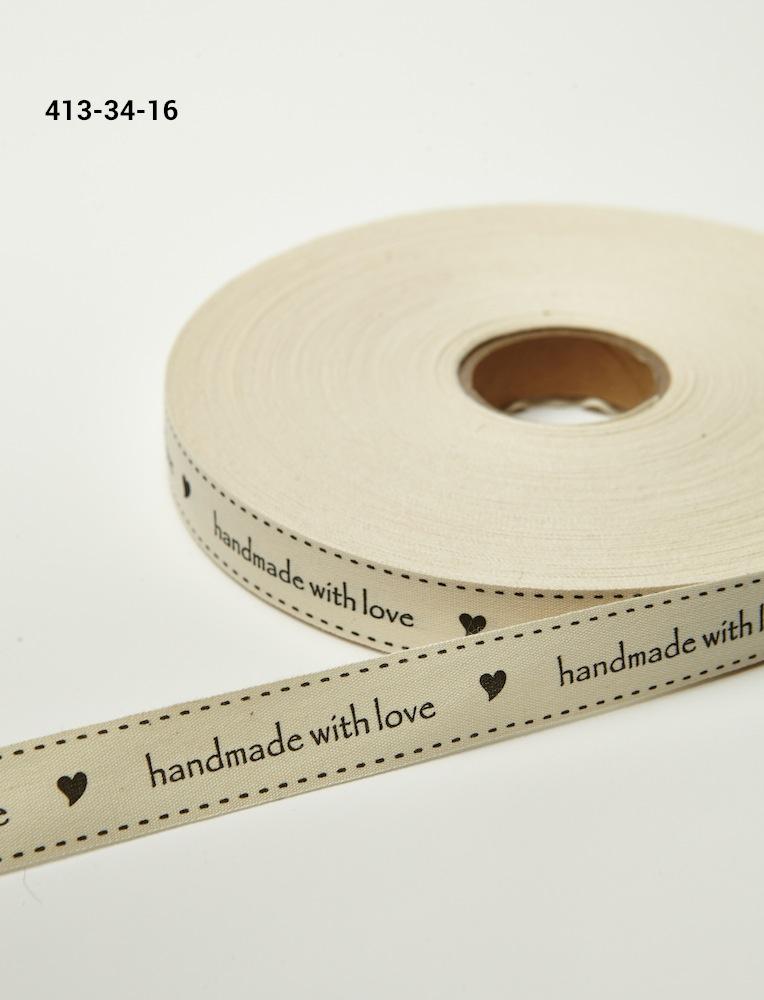 'Handmade With Love' Printed Cavnas