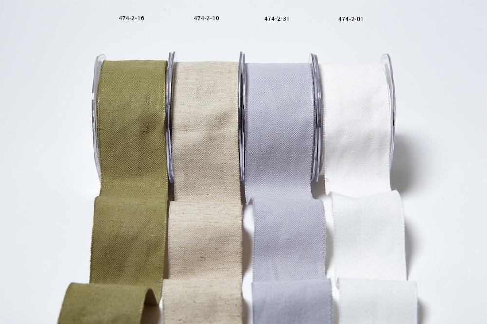 Burlap / Cotton Blend Ribbon