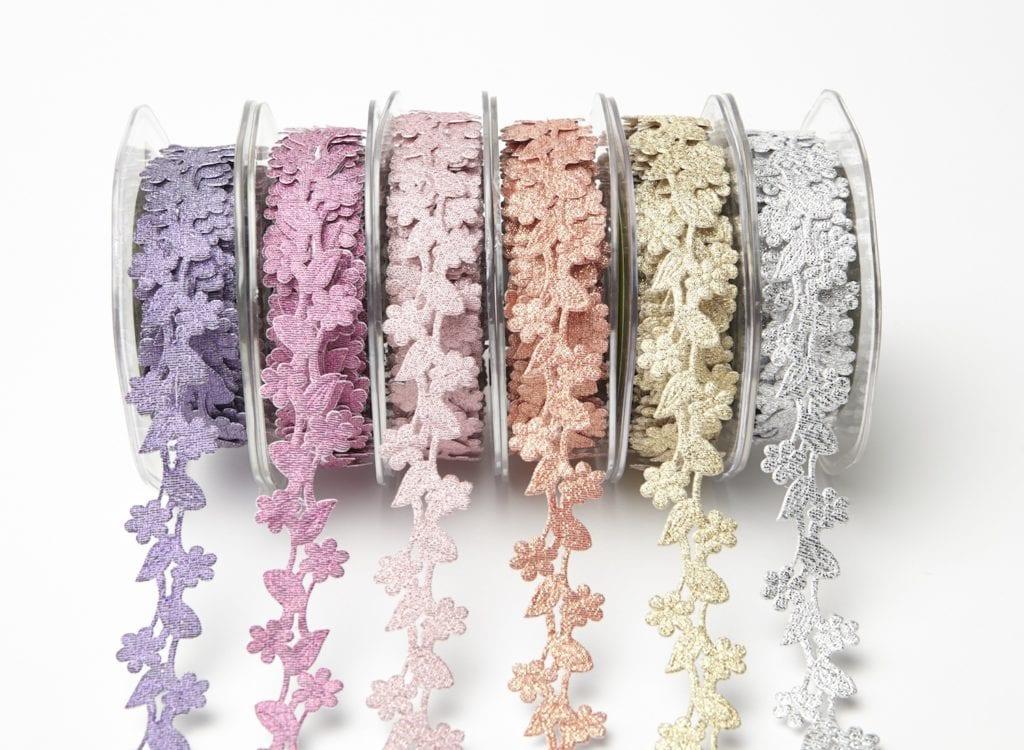 Adhesive Floral Design Ribbon