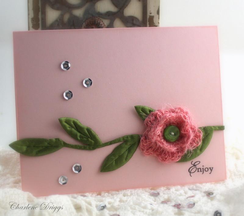 Crochet Flower Card