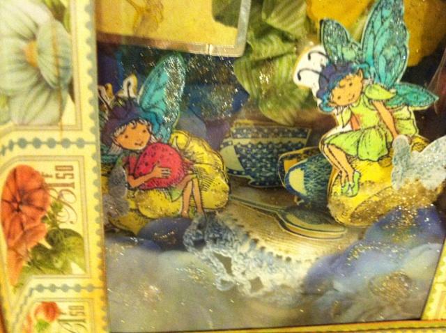 Fairy Tea Party Altered Book Box