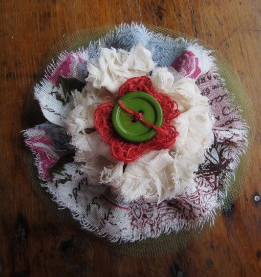 Textured Ribbon Flower