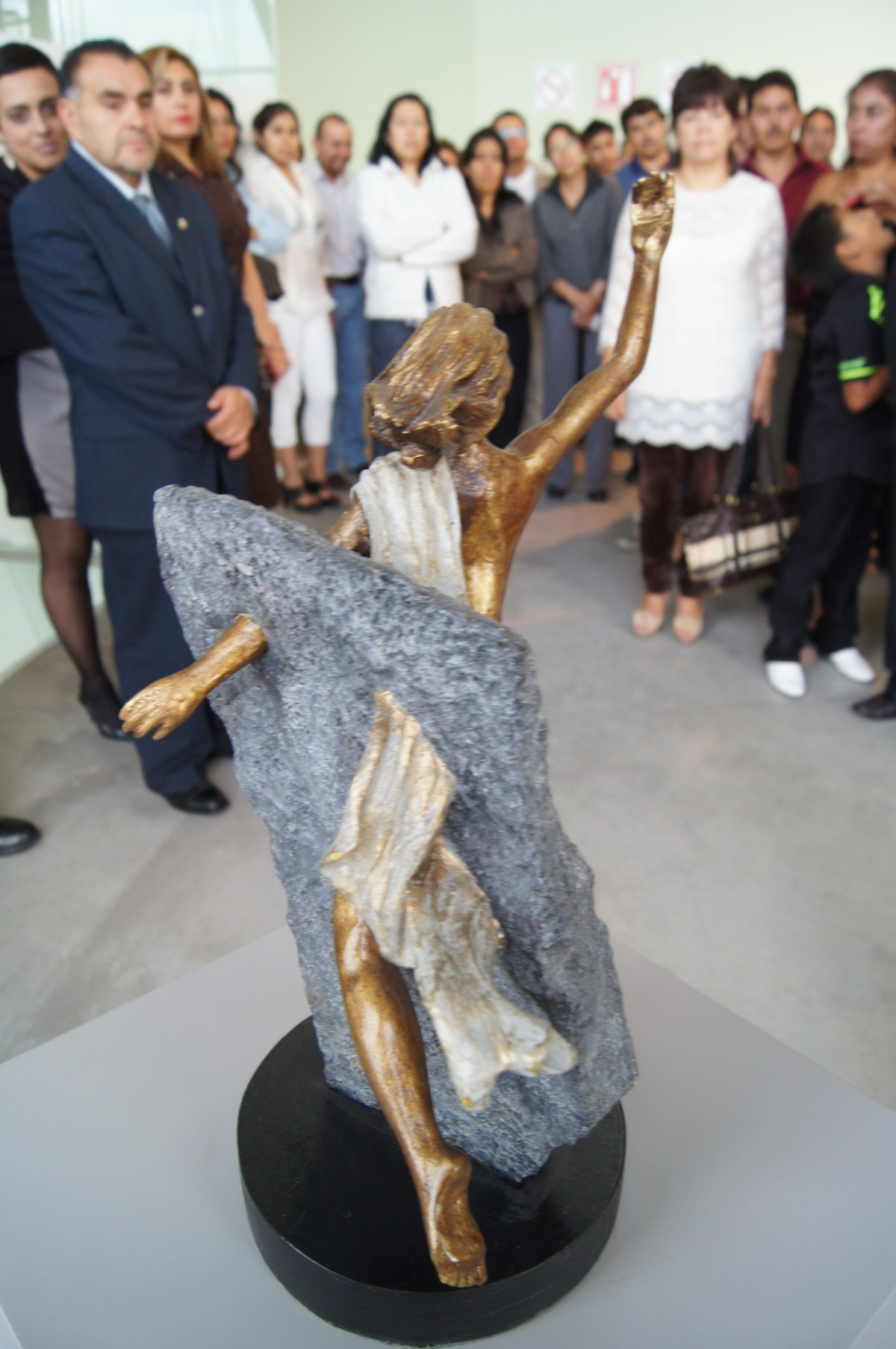 Escultura de Alejandro Cano de Chimalhuacán.