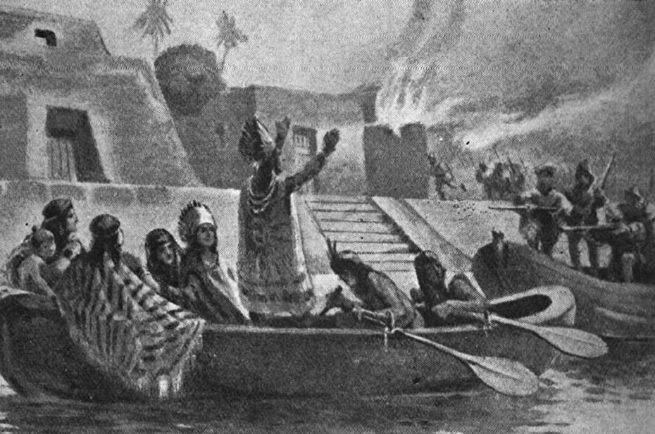 Cuauhtemoc, caída de Tenochtitlan