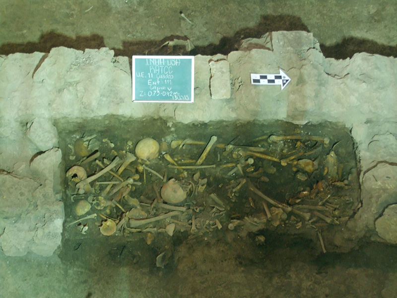 """entierros hallados en Iglesia de la Inmaculada Concepción, comúnmente llamada """"La Conchita""""."""