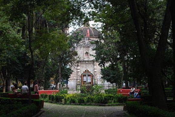 """Iglesia de la Inmaculada Concepción,  Coyoacán, comúnmente llamada """"La Conchita""""."""