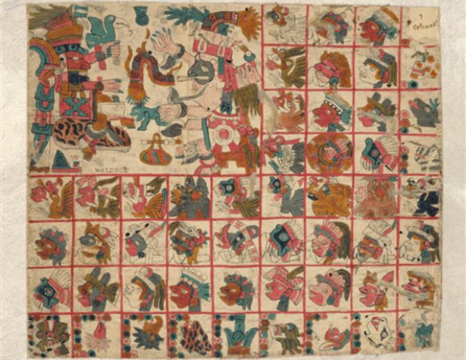 códice indígena Tonalámatl de Aubin