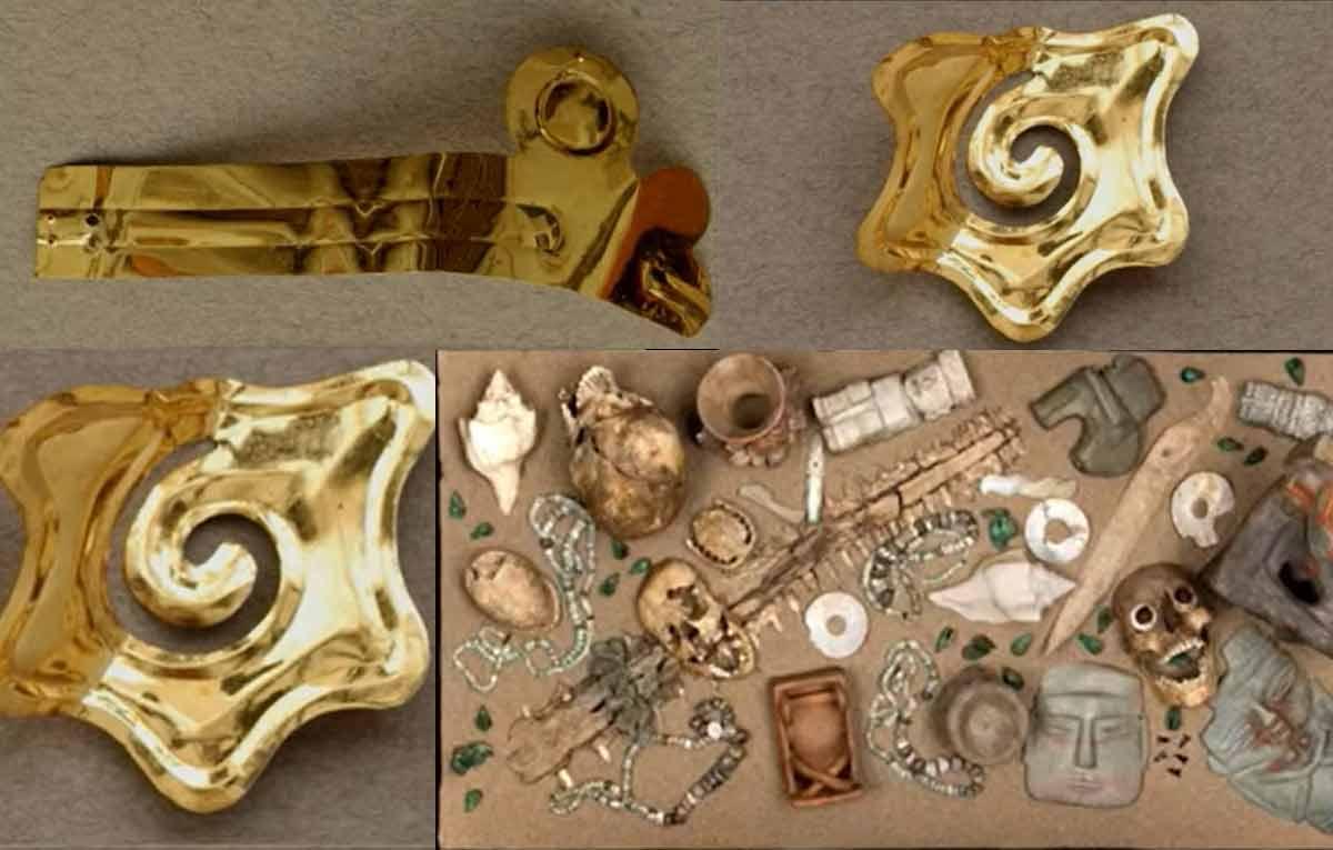 piezas con oro azteca