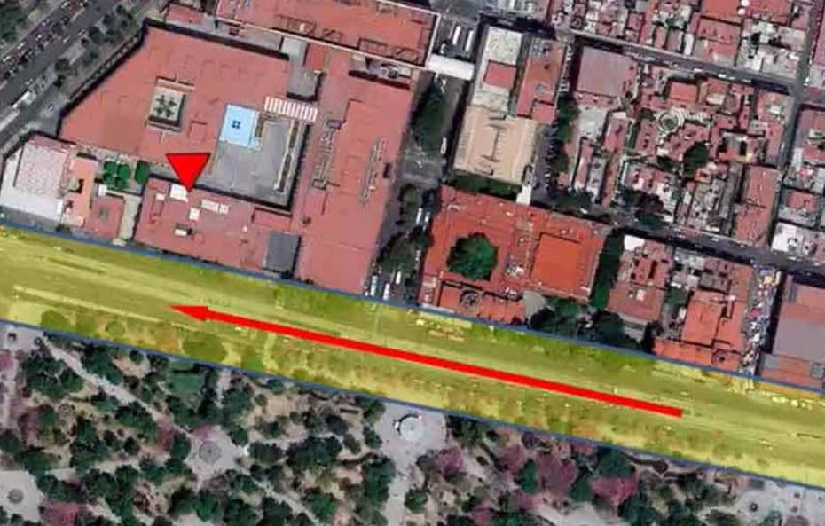 canal de Toltecaacaloco, donde está el SAT y se encontró oro que se llevaba hernán cortés