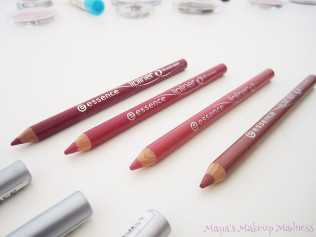 Lip Liners: 15 Honey Berry, 07 Cute Pink, 12 Wish Me A Rose, 11 In the Nude (LtR)