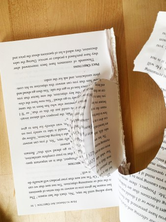 DIY Craft: Book-page Apple