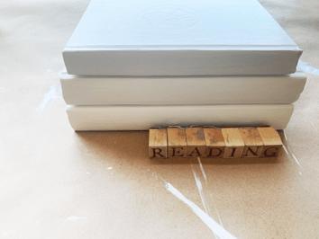 DIY Painted Book Stack