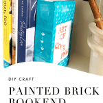 Painted Brick Bookend