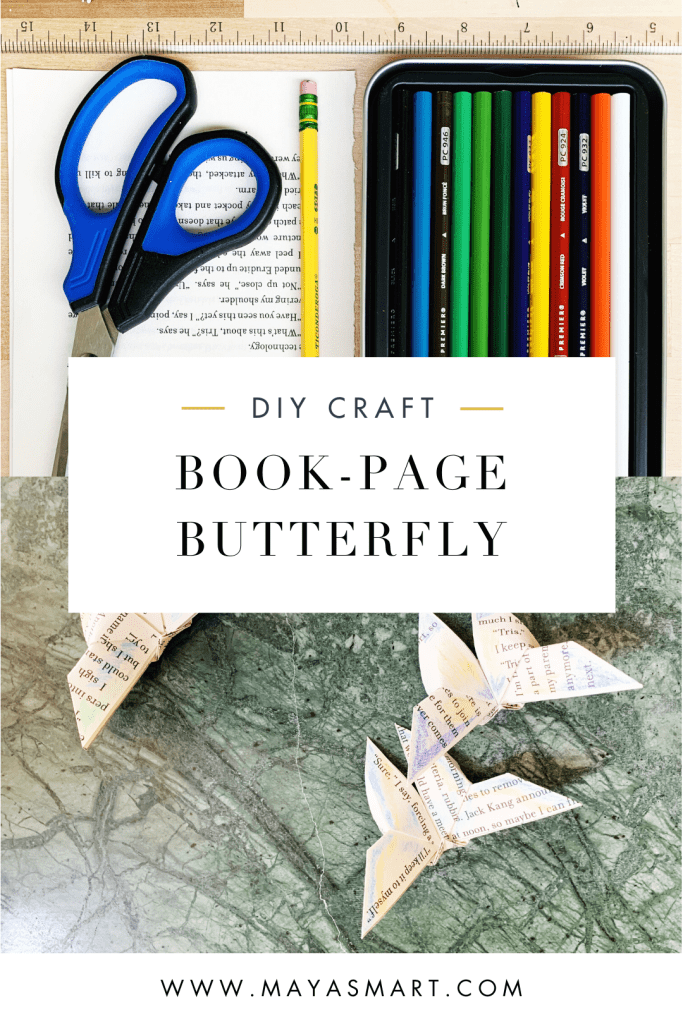 Book-Page Butterfly Pin