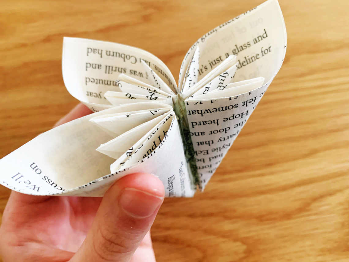 DIY Book Craft Elegant Book Page Flowers