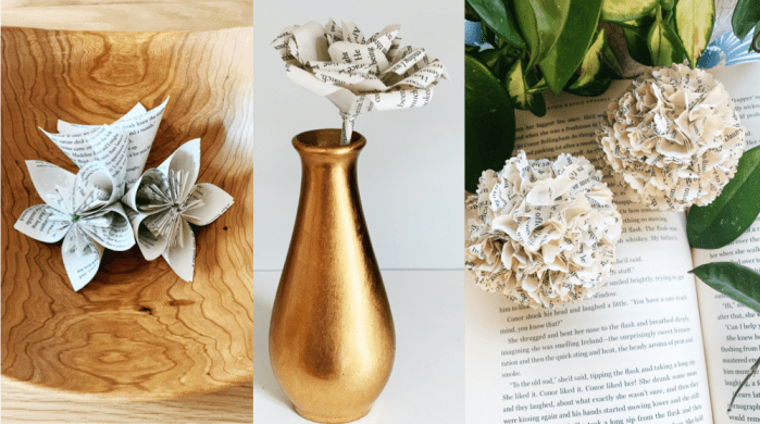 Book-page Flowers