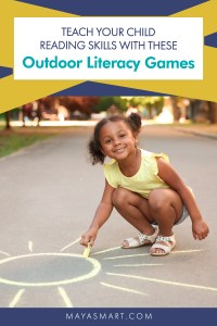 Outdoor Literacy Games pin