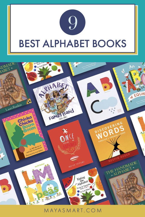 Collage of alphabet book covers