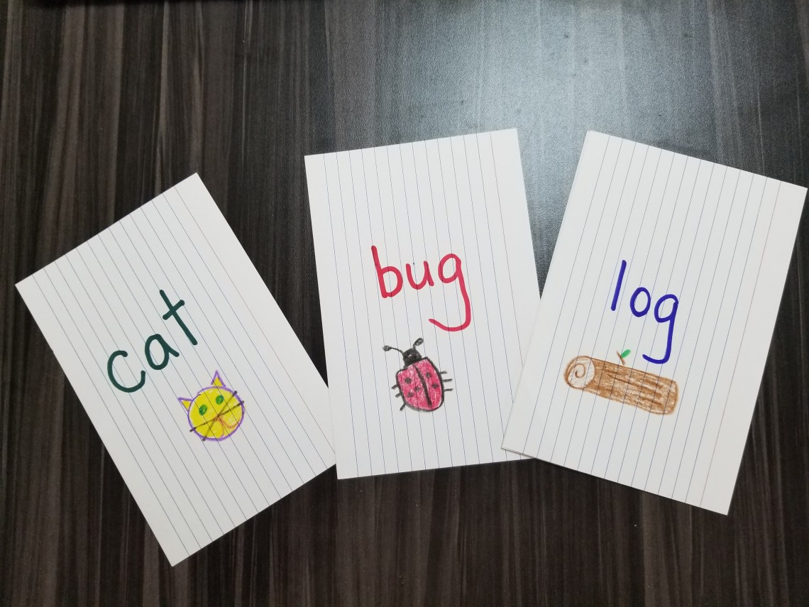 decorated Rhyming Go Fish cards
