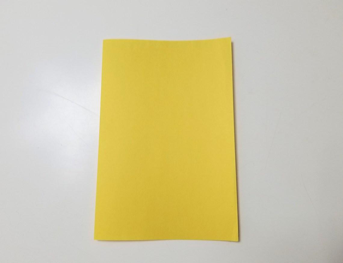 yellow sheet of paper