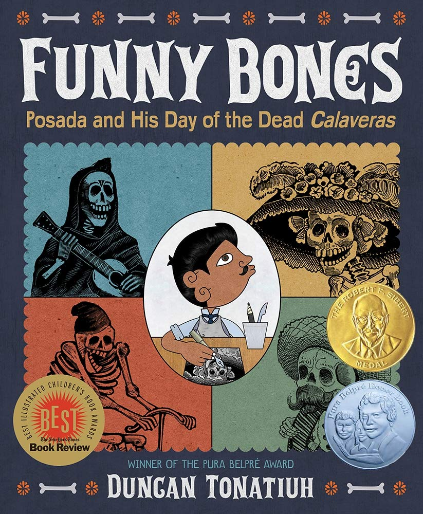 Funny Bones Posada and His Day of the Dead Calaveras by Duncan Tonatiuhbook cover
