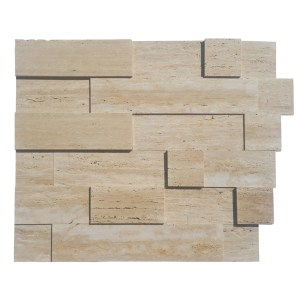 Vein Cut Light Travertine Facade - Unfilled and Honed