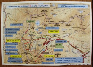 esqui de montaña campeonatos europa skimo 2014 mapa de carrera