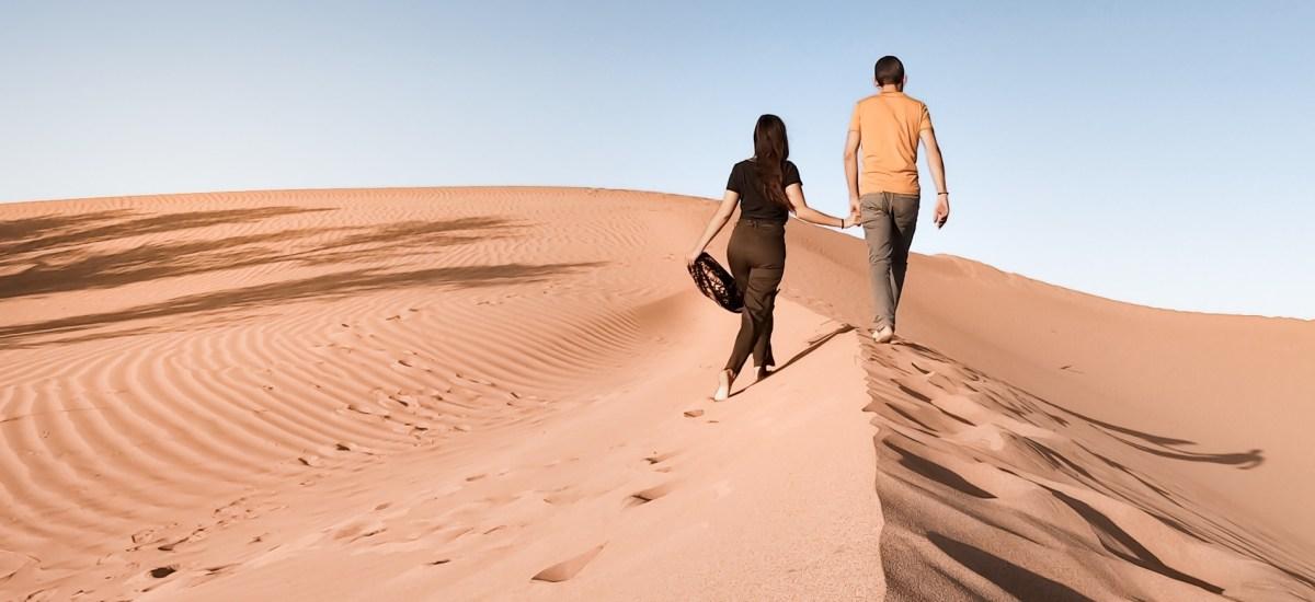 Une nuit dans le désert du Sahara.