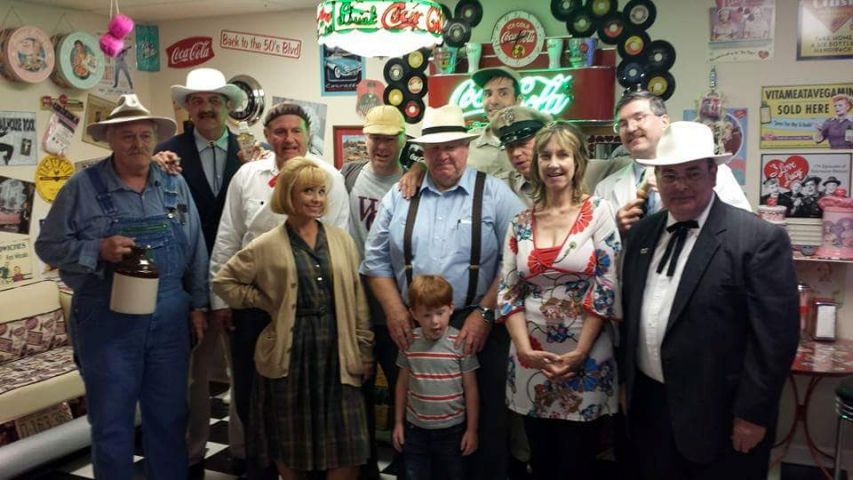 Don Knotts' daughter Karen along with the Mayberry tribute artists.