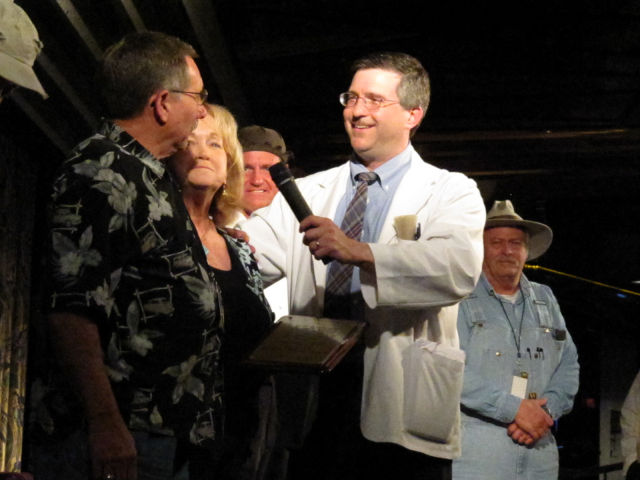 Floyd talking with fans on stage during the Mayberry Cruise.