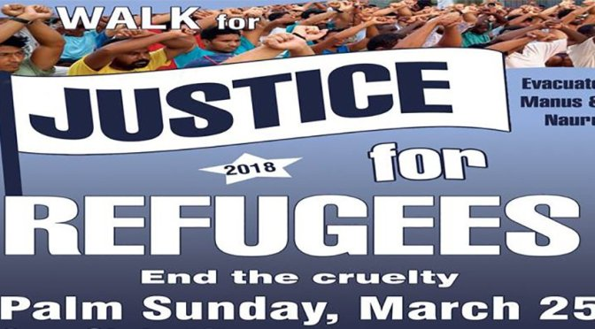 March on Palm Sunday for justice for refugees