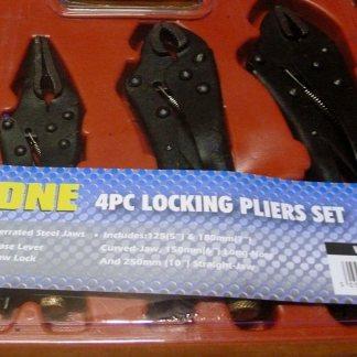 Toolzone 4pc Locking Pliers Set